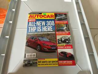 Auto Car Mag with Peugeot 308 cover