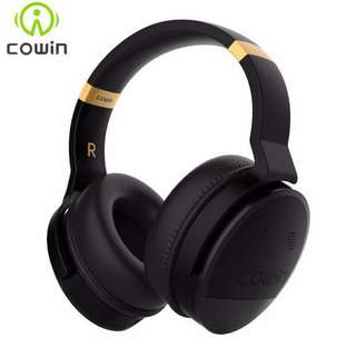 COWIN E8 Active Noise Cancelling Bluetooth Headphones with Mic Hi-Fi Deep Bass Wireless Headphones Over Ear Stereo Sound Headset