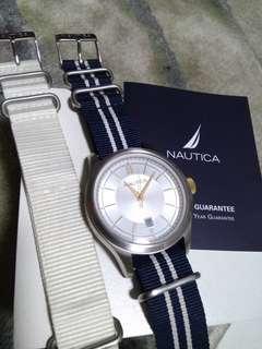 Nautica Classic Yatch Watch (white/navy strap) DW seiko casio babyG