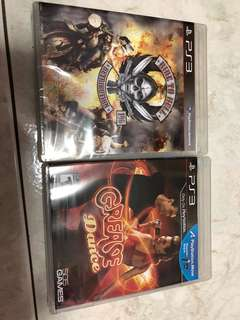 PS3 Games (Grease Dance & Ride to Hell Retribution)/ still sealed
