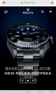 Basel world 2018 deepsea *rare*