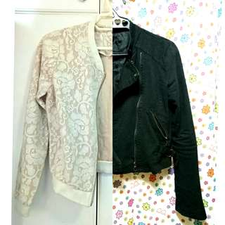 SALE! Lace Bomber Jacket & Rider Jacket 2 for 499!