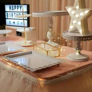 Birthday / ROM / Wedding Dessert Table & Backdrop Setup / Props Rental Service