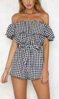 Checked romper/ Jumpsuit