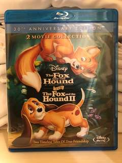 Disney The Fox and The Hound And The Fox and The Hound II 2 Movie Collection Blu-ray