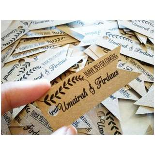 wedding tag craft paper 100pcs