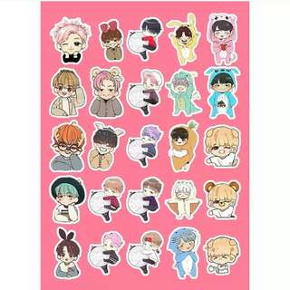 Preorder - BTS CARTOON VER STICKER exc.pos