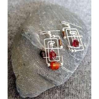 HANDMADE! Geometric Earrings 10069