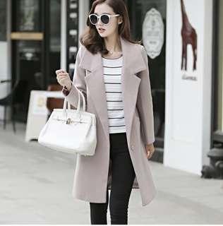 Korean style slim fit long coat 🧥