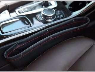 Car seat gap multi-purpose storage box