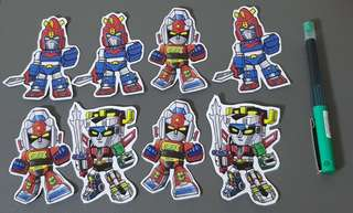 Voltron, Voltes V, Daimos Laminated Stickers