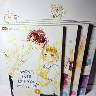 I wont ever like you, my senpai (vol 1 - 4 tamat)