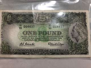QEII Australian Commonwealth 1 Pound Reserve Bank