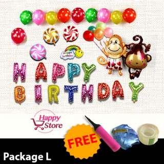 Happy birthday party decoration balloon (monkey)