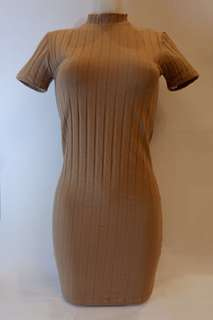 Turtleneck Dress (Brown)