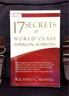 《Preloved Paperback + Good Condition 》Richard Carswell - 17 SECRETS OF WORLD-CLASS SUPERGOAL-ACHIEVERS