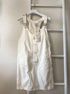 💯真品 Auth Brand new Chloe overalls off white dress 女神文清優雅氣質吊帶牛仔裙