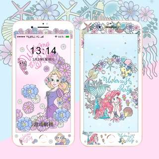廸士尼公主 - 小魚仙&長髮公主 iPhone 手機屏幕保護貼&手機殼