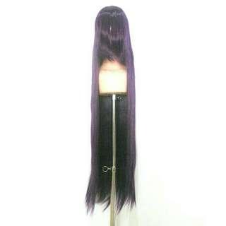 Wig Taobao dark purple 100cm