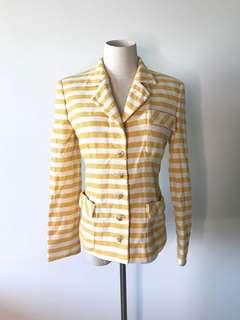 💯真品 Auth Valentino summer blazer 女神高貴氣質夏日清新間條西裝外套