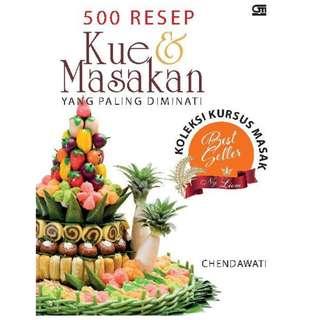 Ebook 500 Resep Kue & Masakan yang Paling Diminati Koleksi Kursus Ny.  Liem - Chendawati