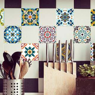 10 pieces tiles stickers / wall paper