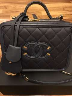 CHANEL Vanity Case (Navy)
