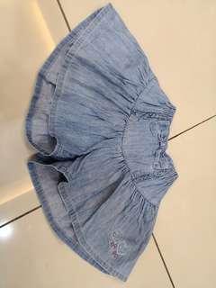 Knit Pla  er Denim Skirt (4-5y)