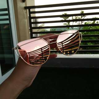 Love Punch Cat Eye Rose Gold Sunglasses / Shades