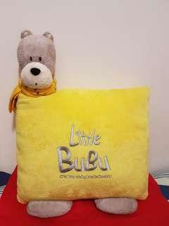 Plush Little Bubu Bear Cushion 可愛熊坐墊