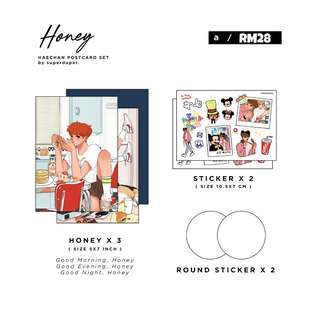 NCT Haechan Fanart Postcards by @superduper__x