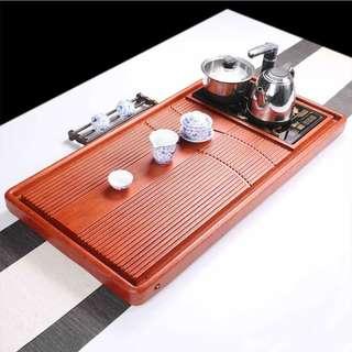 花梨木茶盤 雕刻茶盤 原木茶盤 實木整塊 茶盤 加泡茶機套組