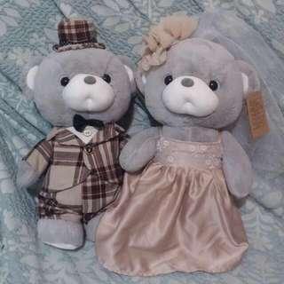 質感灰熊 全新 泰迪熊 結婚好物