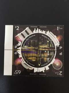 Marina Bay Skyline assorted stamps