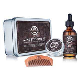 [IN-STOCK] Gentle Vikings Beard Growth Grooming Kit, Beard Oil Balm/Butter/Wax Trimming Comb Kit, Gift Set for Beard Styling & Shaping, Gift Idea for Men, Husband, Faster and Him