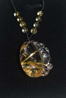 钛晶貔貅吊坠 Golden Rutilated Quartz Pendant
