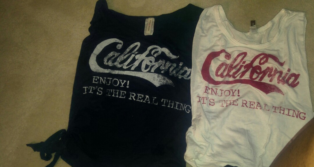 2 for $15 California tops
