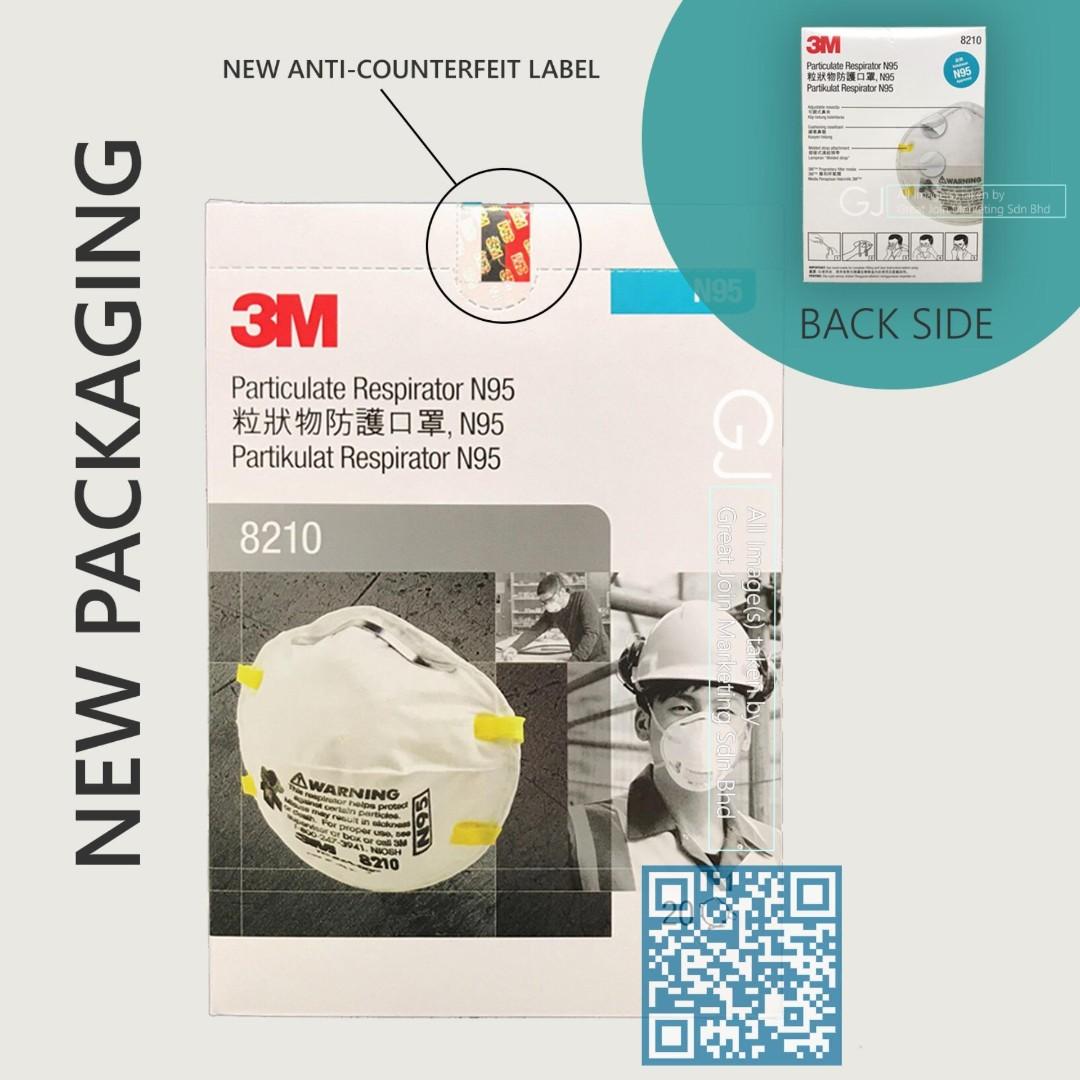 3m™ Respirator 20pcs N95 Box 8210 Mask Health Particulate