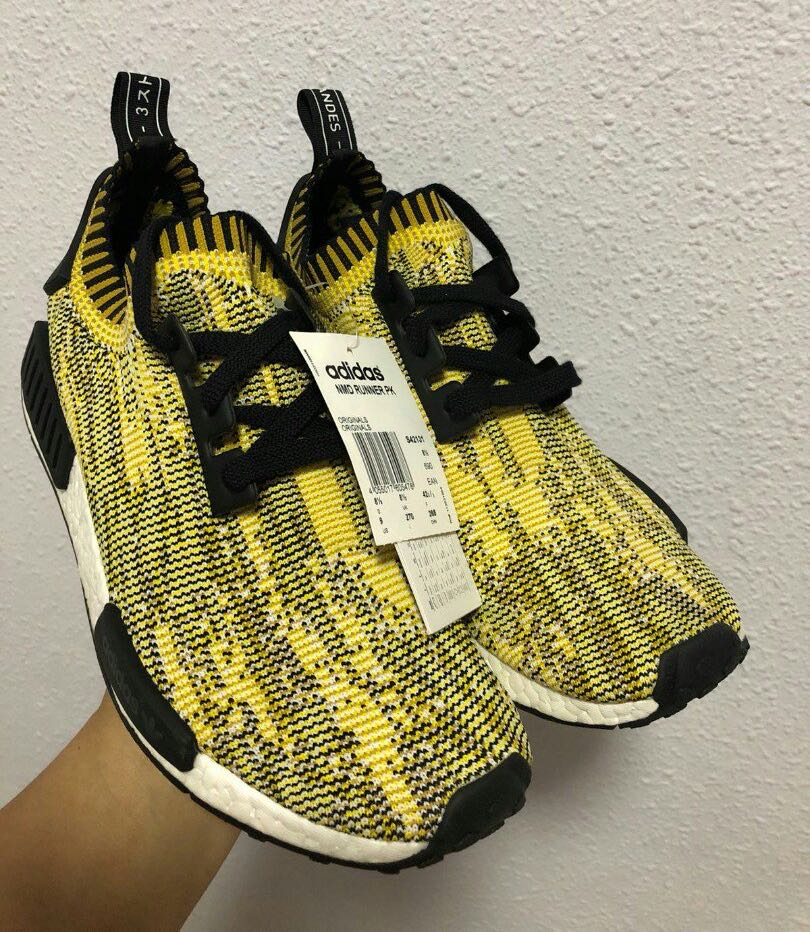 031d6510114e5 Adidas Nmd R1 PK Yellow Camo, Men's Fashion, Footwear, Sneakers on Carousell