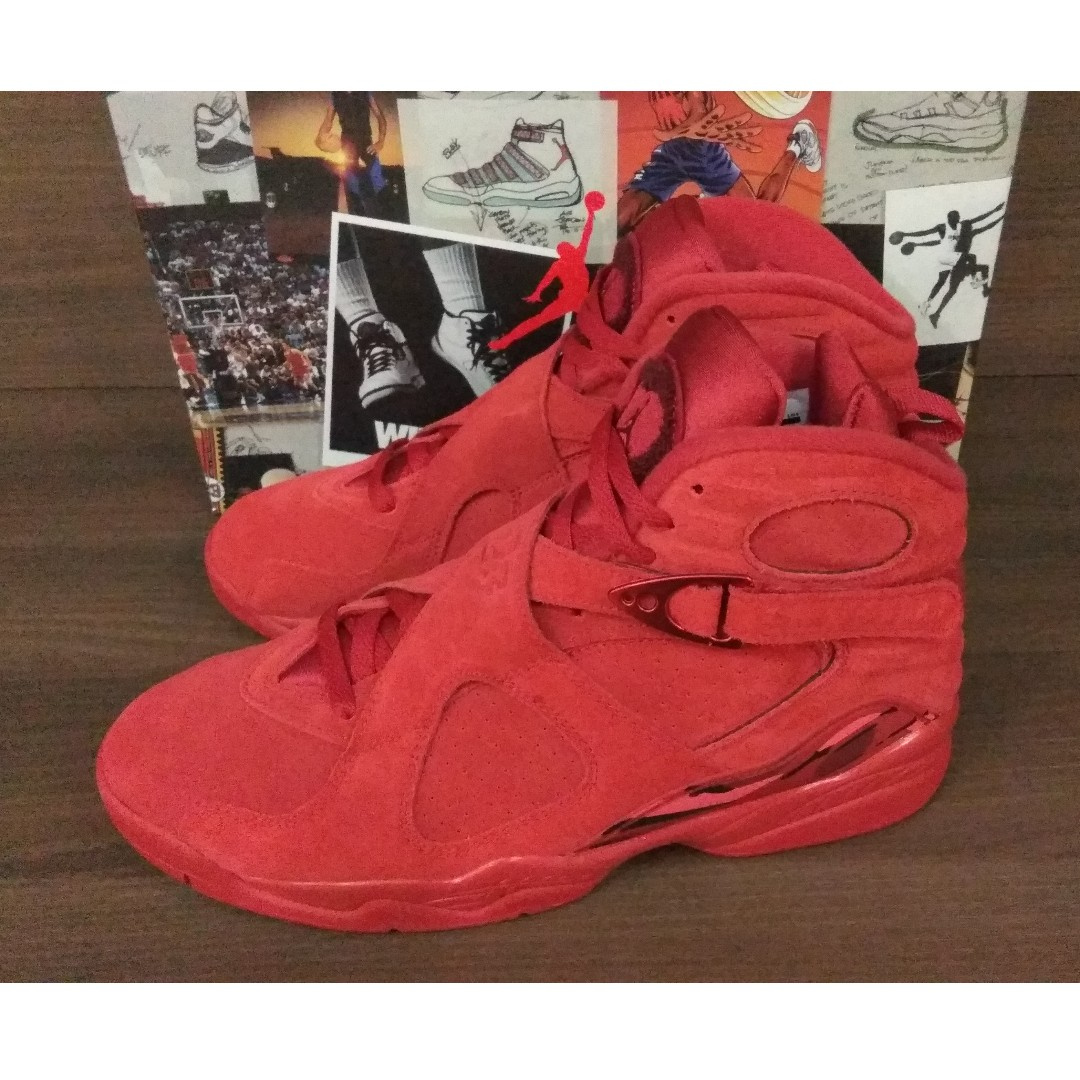 premium selection 467fa b8489 Air Jordan 8 Retro Valentine's Day, Men's Fashion, Footwear ...