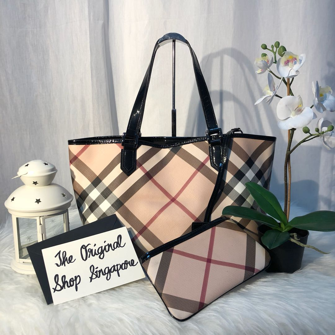 Authentic Burberry Nova Check Tote Bag 918ec22df03c3