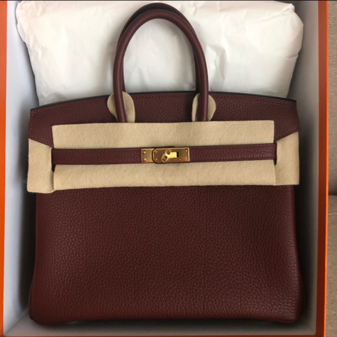 7788471d1ae Authentic Hermes birkin 25 rouge togo ghw stamp C, Luxury, Bags ...