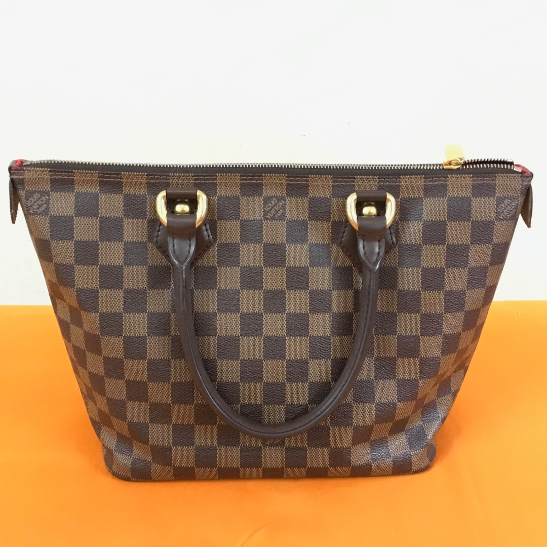 b69b2e5fffa7 Authentic Louis Vuitton Damier Ebene Canvas Saleya PM bag tote bag handbag