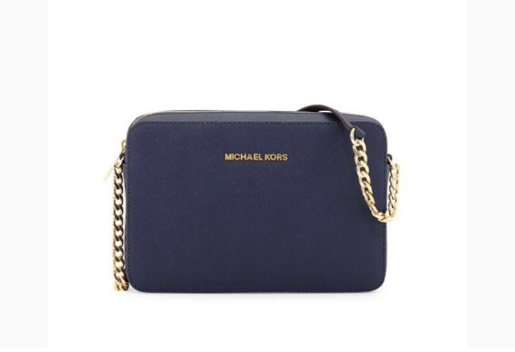 b3db714e708b AUTHENTIC Michael Kors Sling Bag Crossbody Bag in Navy Blue