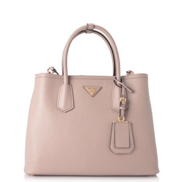 ed55887a95b1 Authentic Prada Saffiano Cuir Double Bag