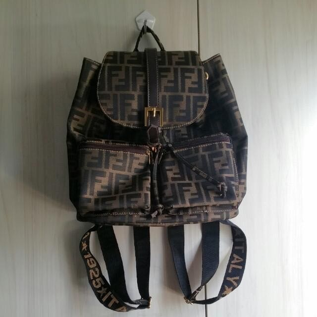 9adc99fd61 Authentic vintage classic Fendi backpack bag