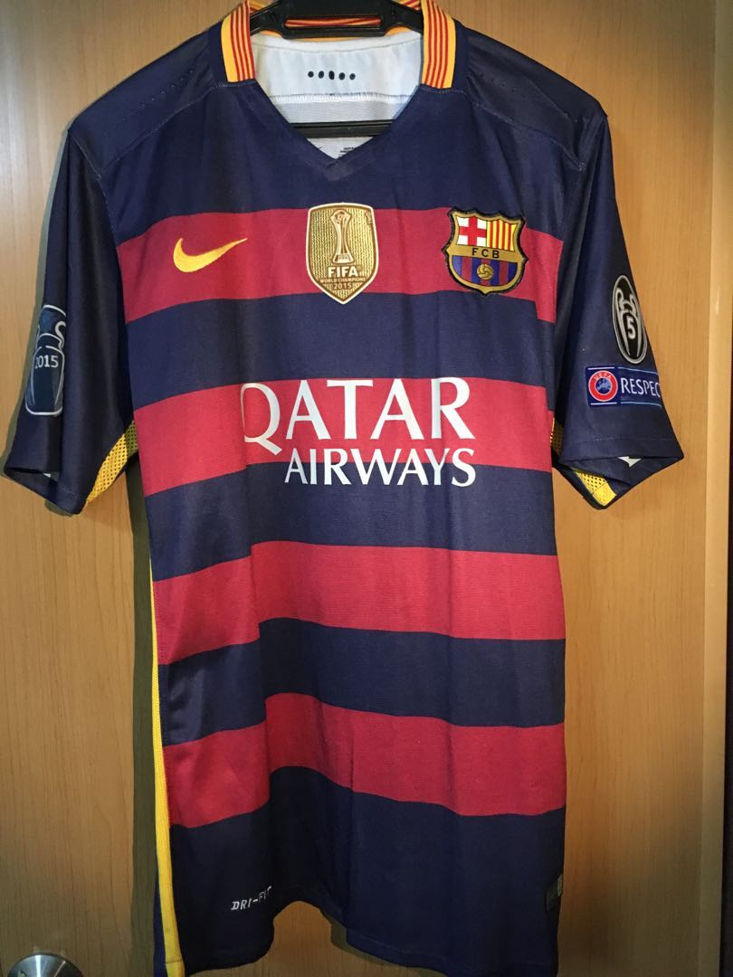 new concept bc446 f018c Barcelona Home Kit 2015/16 Home Kit UCL Champions