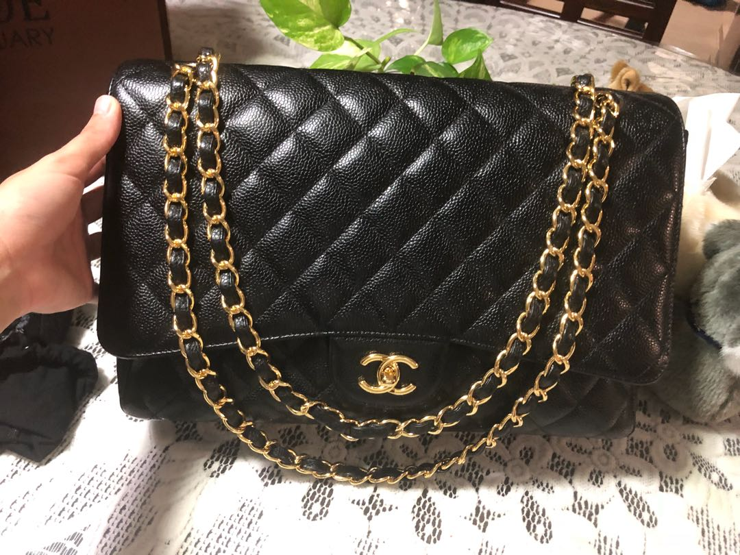 702881d9090 Chanel Maxi Single Flap caviar with GHW., Luxury, Bags & Wallets ...