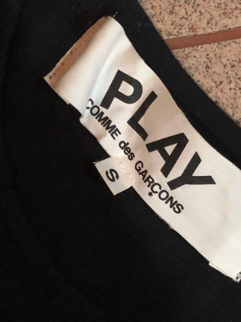 Commes Des Garçons Play Tshirt, Black, Small
