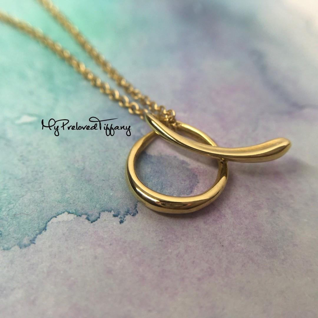 542ae9fb009c Excellent Authentic Tiffany   Co. Alphabet A Letter Pendant Necklace ...